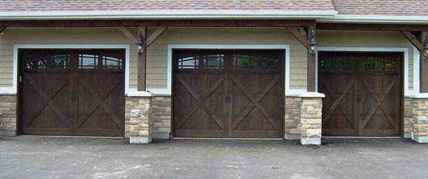 Clopay Garage Doors, Model 9203 Long Elegant Panel With Optional Charleston  608 Window Design