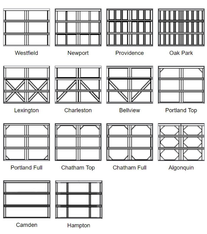Choose Square Panel Design options for 7 feet doors