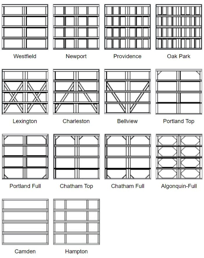 Choose Square Panel Design options for 8 feet doors