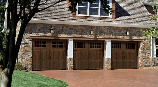 Looks can be deceiving. From a distance, you see wood. Up close, it's durable, low-maintenance steel. Authentic carriage house looks, modern functionality to complement your home?s exterior.