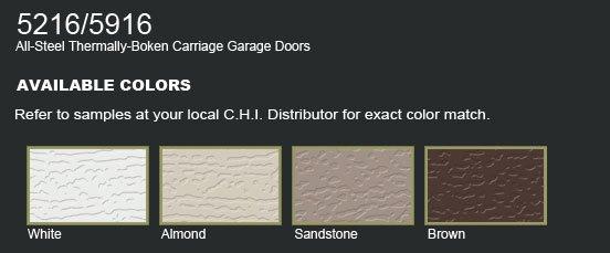 Carriage Steel Garage Door C H I 5216 5916 Oakville