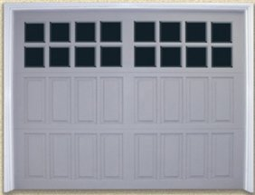 Mahogany Raised Panel Garage Doors