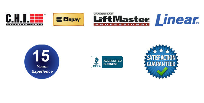 Clopay, CHI, LiftMaster, Linear, BBB.